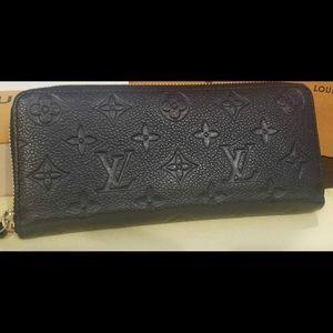 Louis Vuitton Noir Empreinte Clemence Wallet